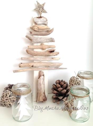 DIY. Árbol de Navidad con palos.