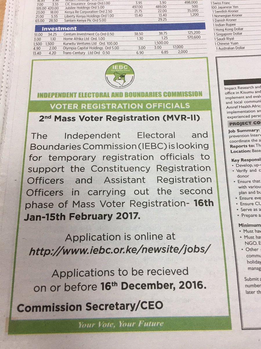 IEBC on Twitter: