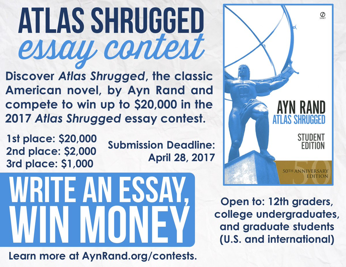 ayn rand essay contest winners 2013 Browse and read ayn rand fountainhead essay contest 2011 ayn rand 2017 by ayn rand institute- topics, requirements, winners  essay titles november 2013.