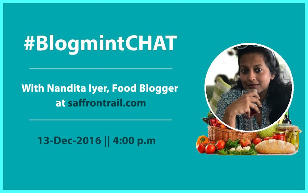 Few Days To Go! Get ready for all knowledge on food blogging at #BlogmintCHAT with @saffrontrail Exciting prizes for interesting questions. https://t.co/fZlIZwP5Px