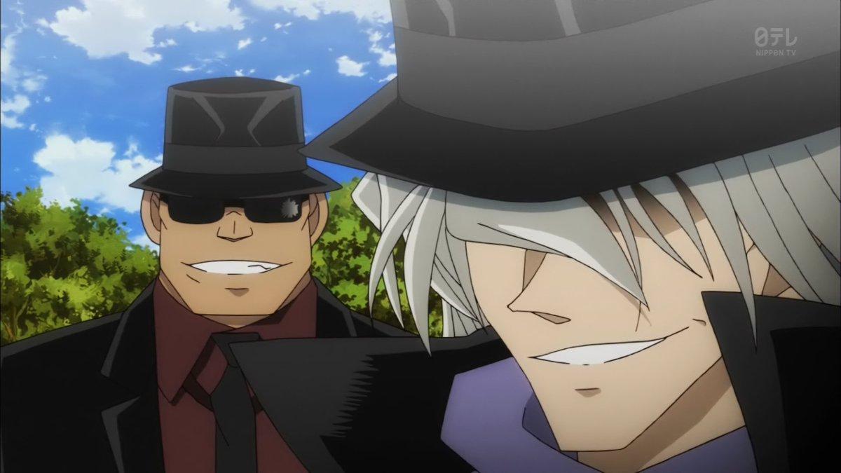 可愛すぎるw名探偵コナンの黒の組織、ジェットコースターの乗る前の笑顔w