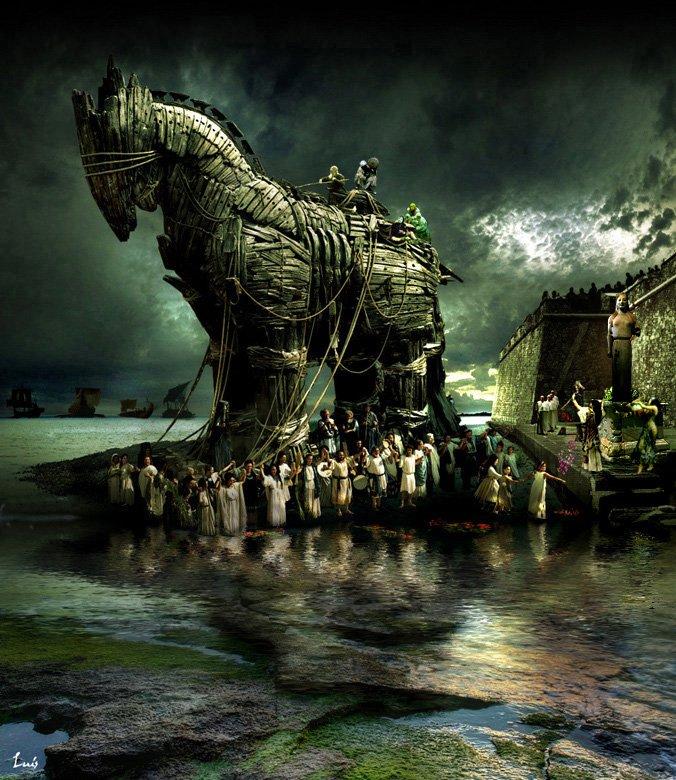 Representa una escena de la guerra de Troya, Laocoonte es castigado por advertir el peligro de introducir el Caballo. #storart1 #MGP https://t.co/sMEPiicNM8