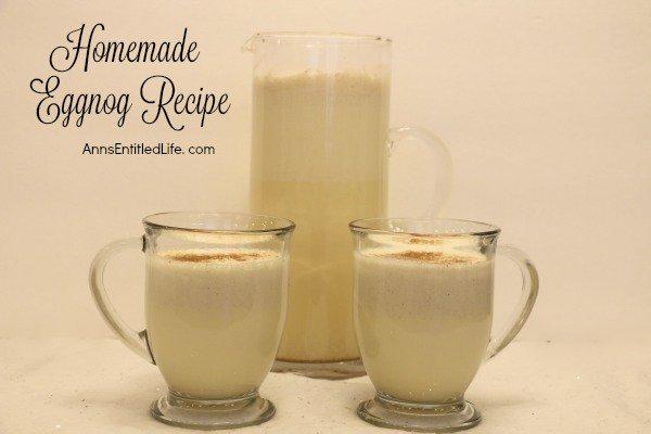 Homemade Eggnog Recipe