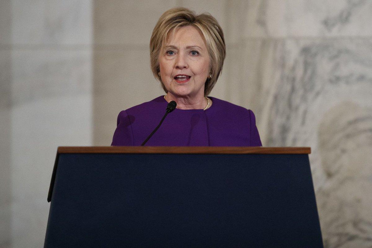 Clinton decries rise of fake news as an