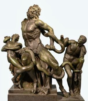 La escultura se encontró en 9 piezas, faltaba el brazo de Laocoonte y el de uno de sus hijos, se propuso una restauración. #storart1  #MGP https://t.co/FQukwtVKSn