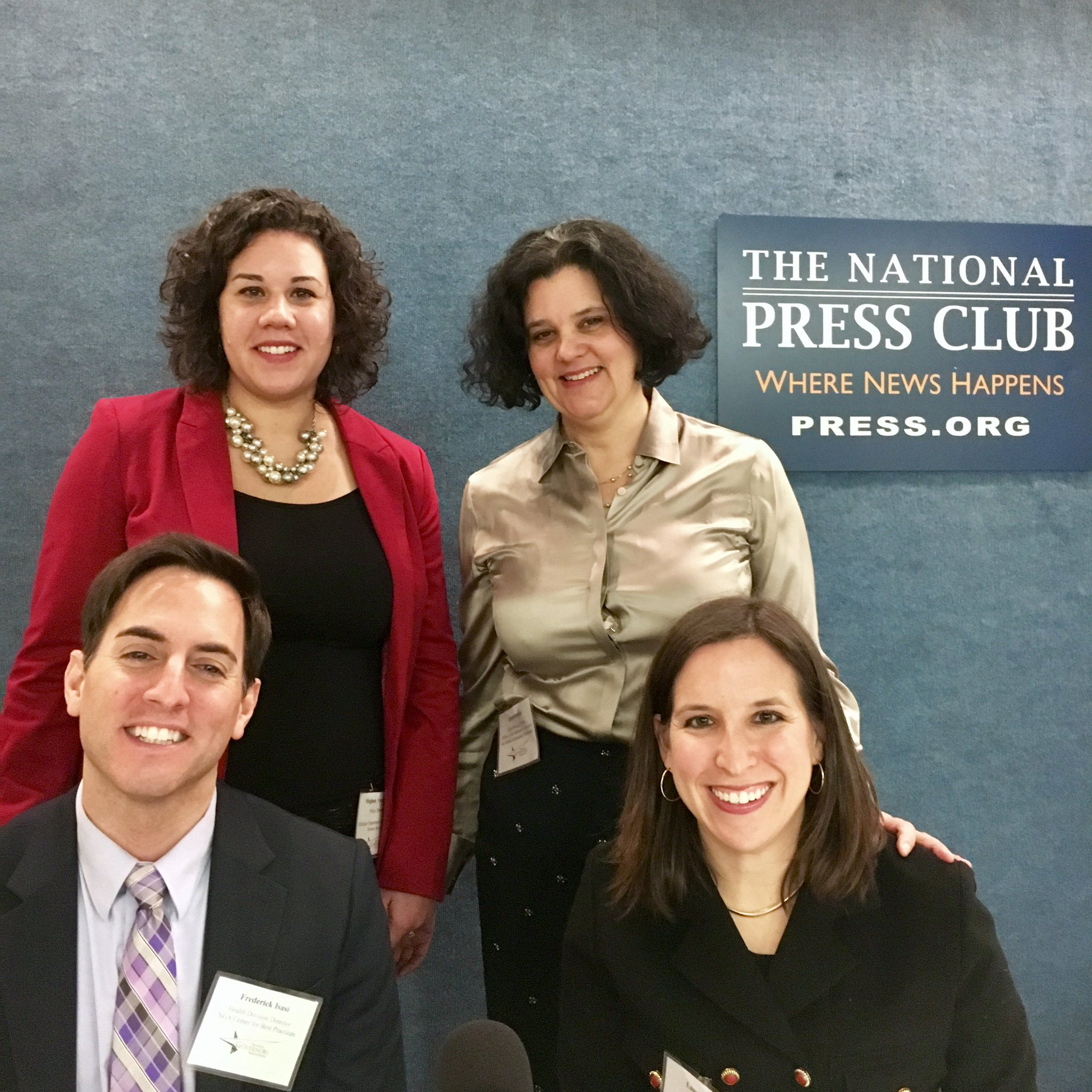 .@SavageLucia, @MichiganHHS & @NatlGovsAssoc all smiles at @PressClubDC! #healthIT #NGA2016  LIVE: https://t.co/Yq1suzyZXO https://t.co/s0tQ13rMfY