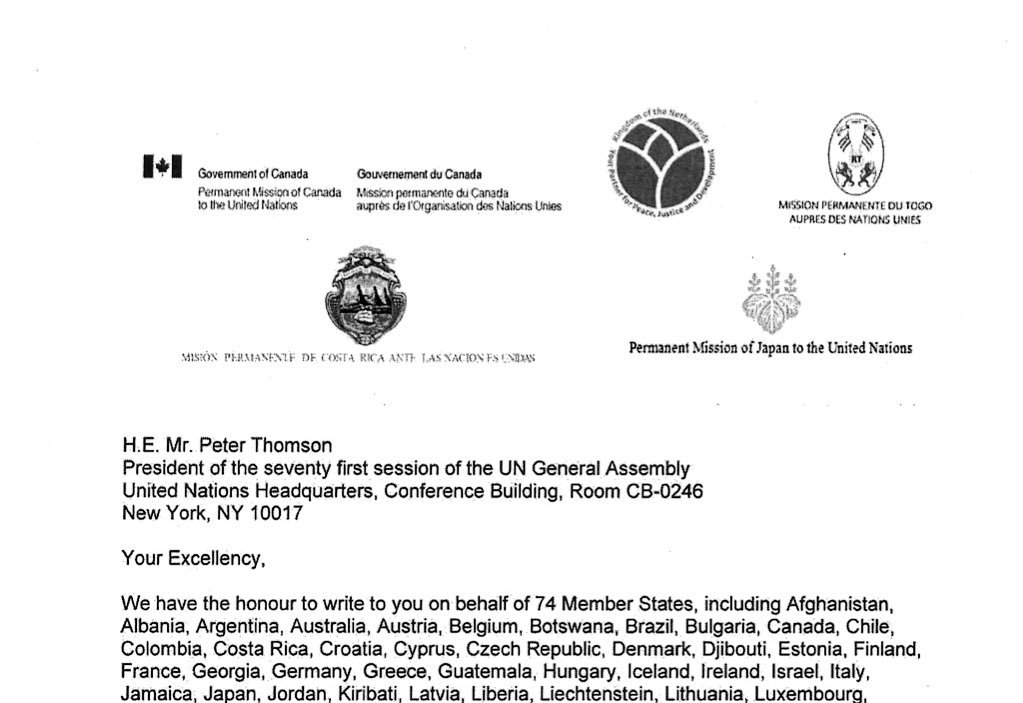 Canada mission un on twitter thank you for your support netherlands co signed letter to have this session on syria in general assembly and co sponsor resolution text resolution here 1picitter altavistaventures Images