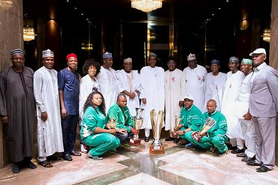 President Buhari receives national youth open water swimming c'tee