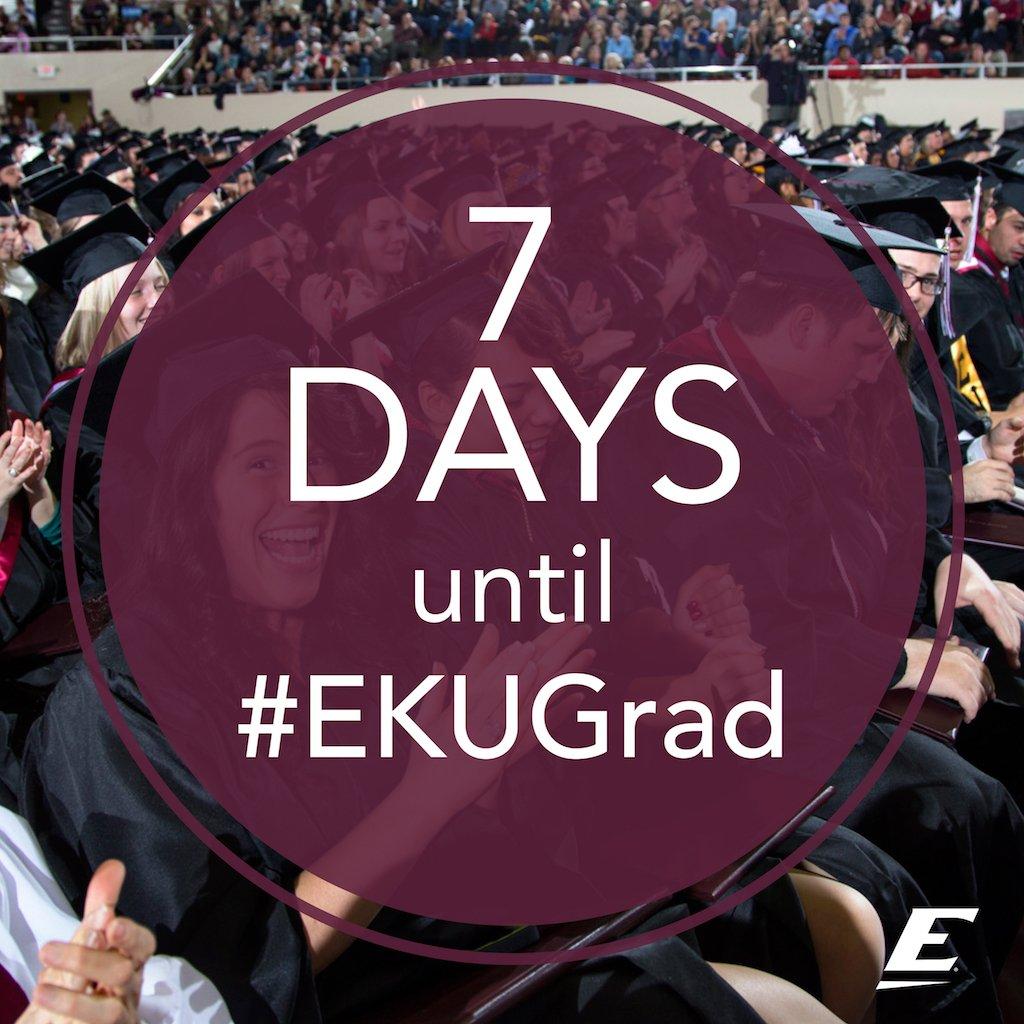 We're a week away from #EKUGrad! https://t.co/nERiS7NLYy