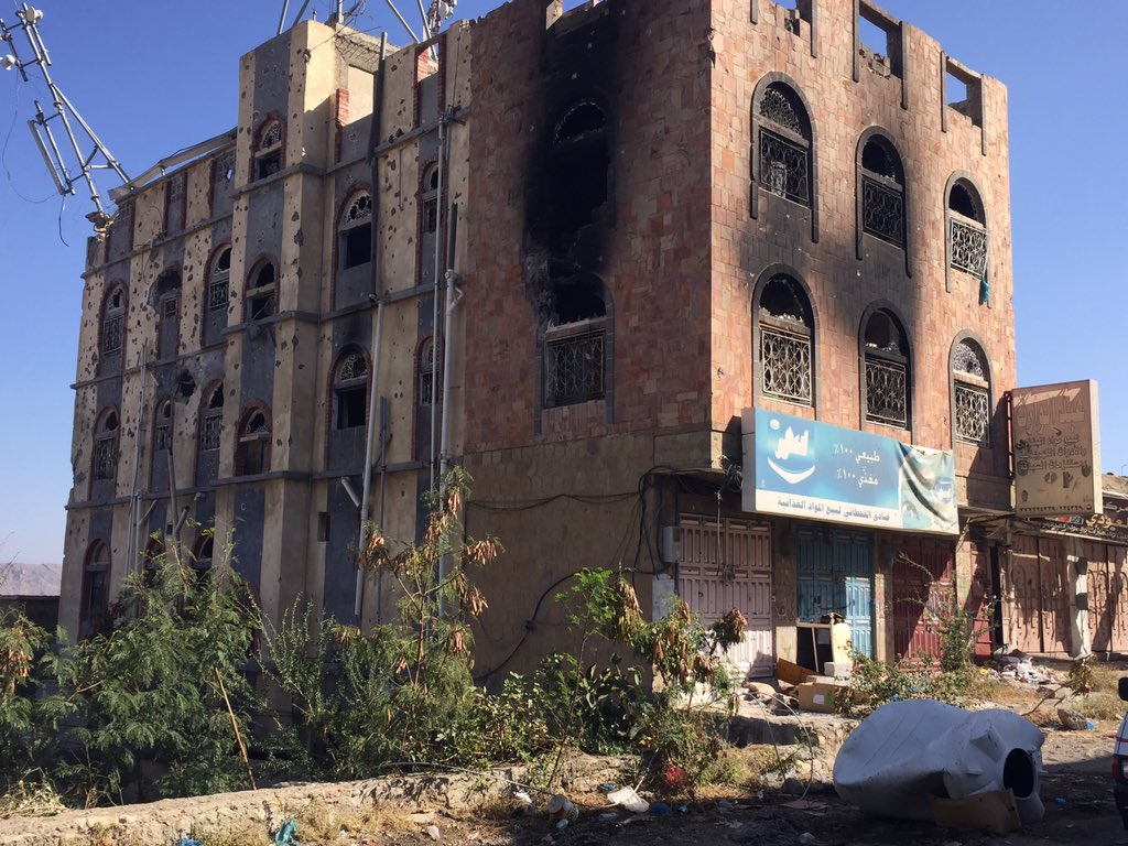 Pictures showing terrible damage left by fighting in #Taiz, #Yemen https://t.co/jmywbwudSZ