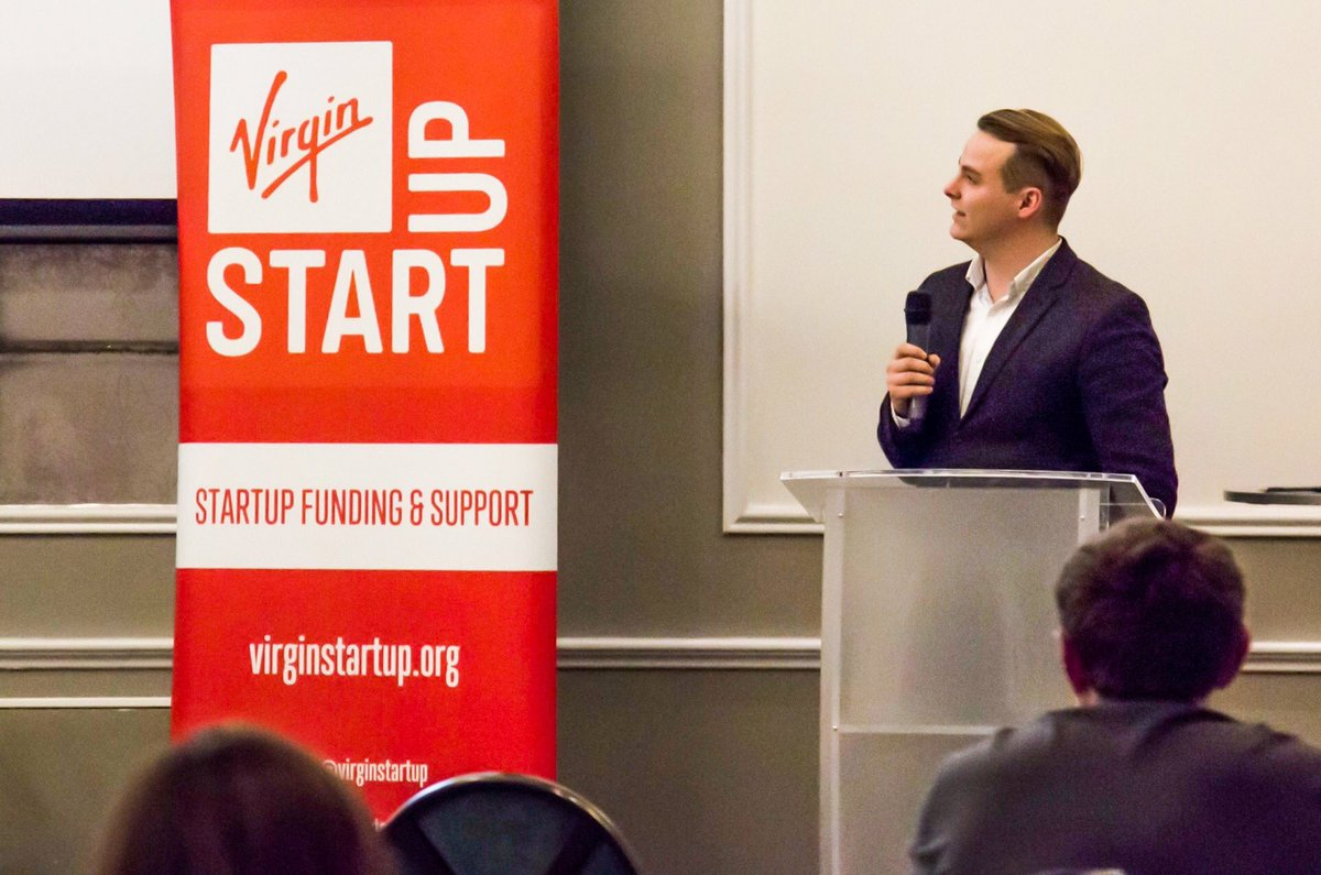 William Ferreira, founder of UNBXD speaking at a Virgin Start Up event