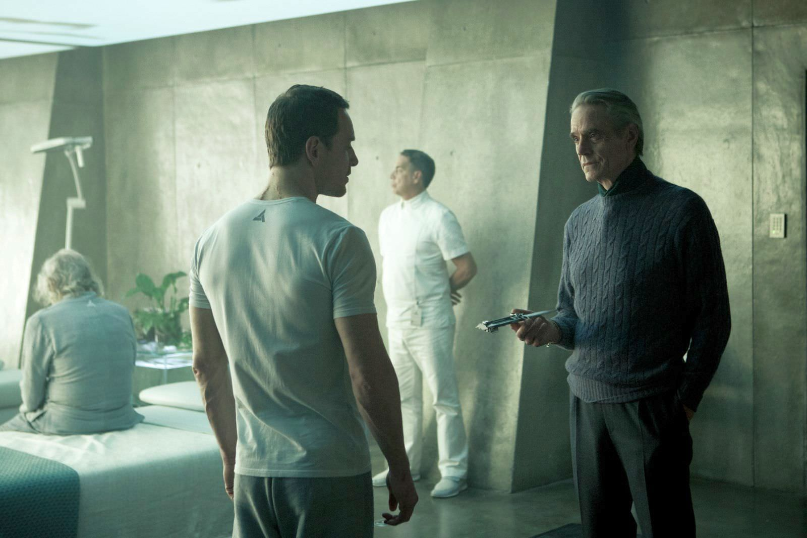 Michael Fassbender and Jeremy Irons in Assassin's Creed