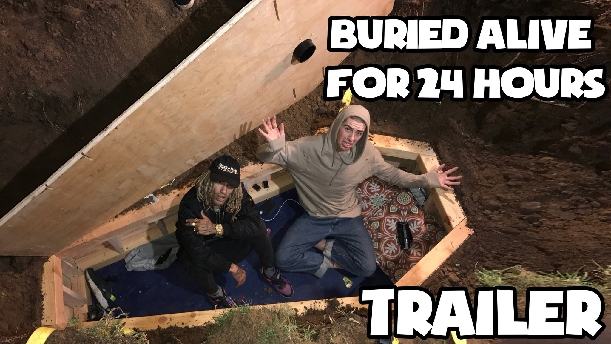 BURIED ALIVE FOR 24 HOURS. VIDEO WILL BE UP TOMORROW. SUBSCRIBE TO SEE IT FIRST > https://t.co/bUnjPT058b https://t.co/9YDUV0BoLE