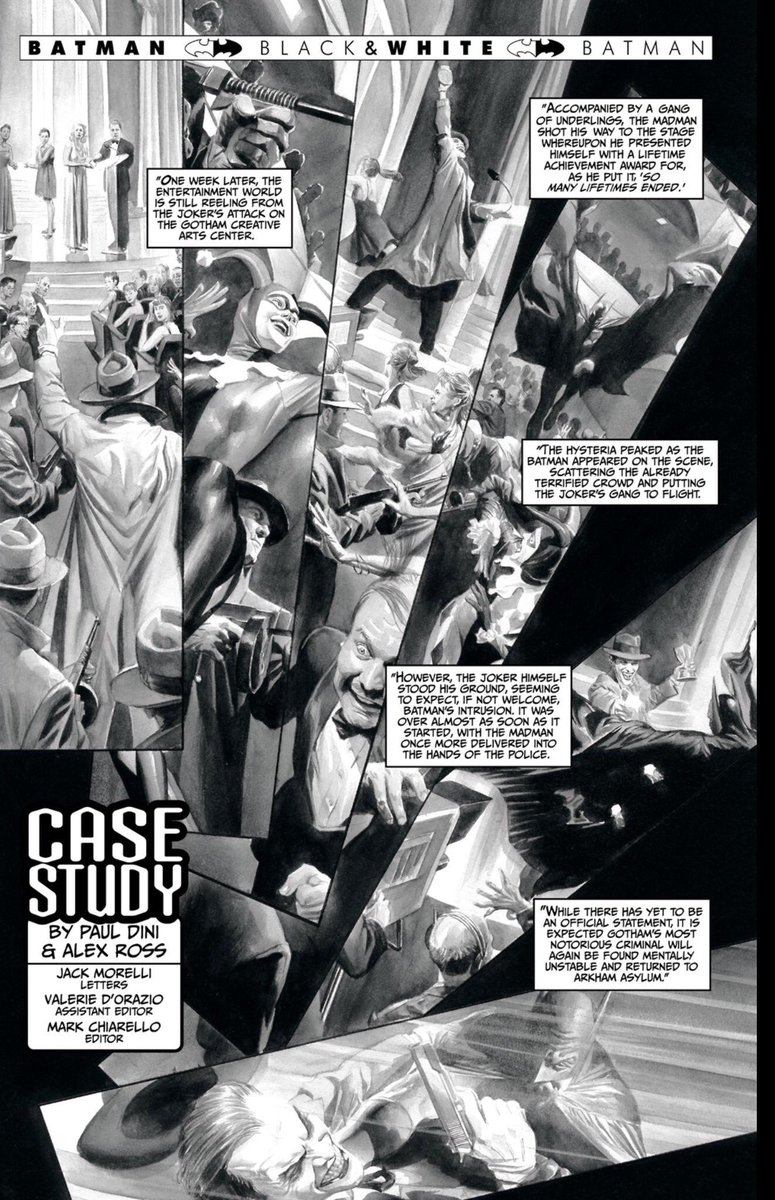 Alex ross on twitter batman black and white joker story paul dini