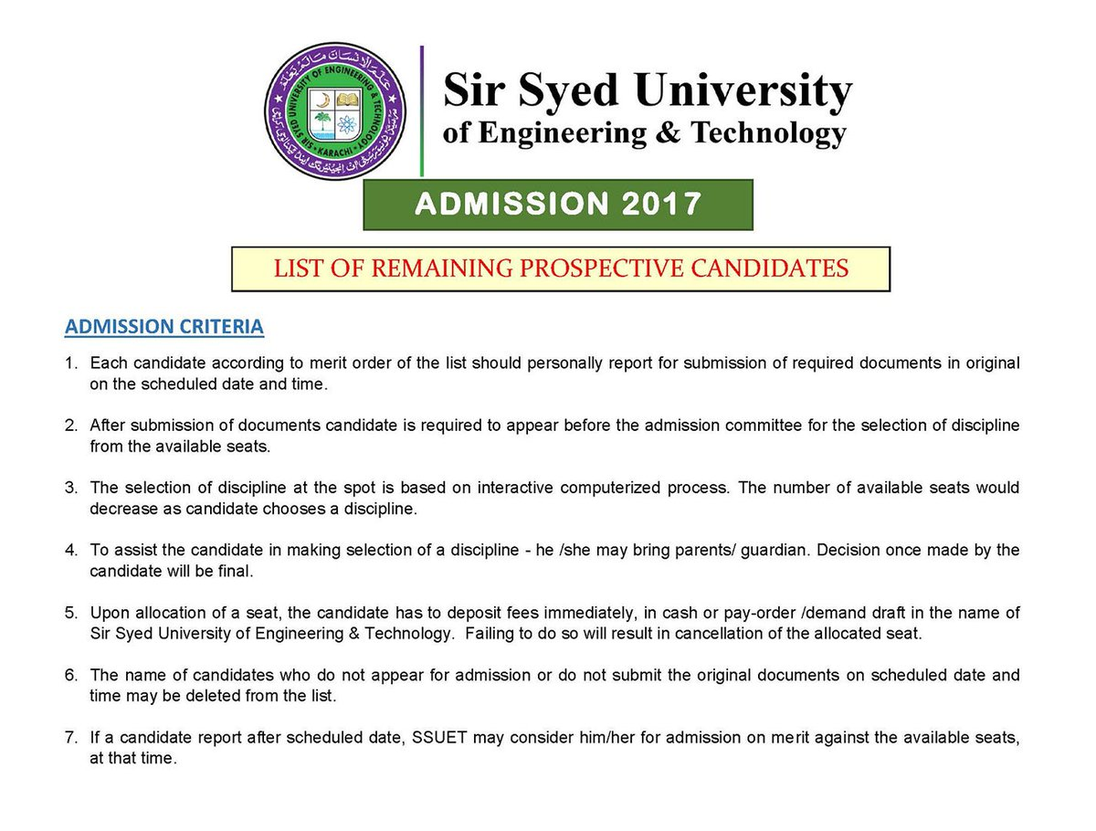 Sir Syed University on Twitter: