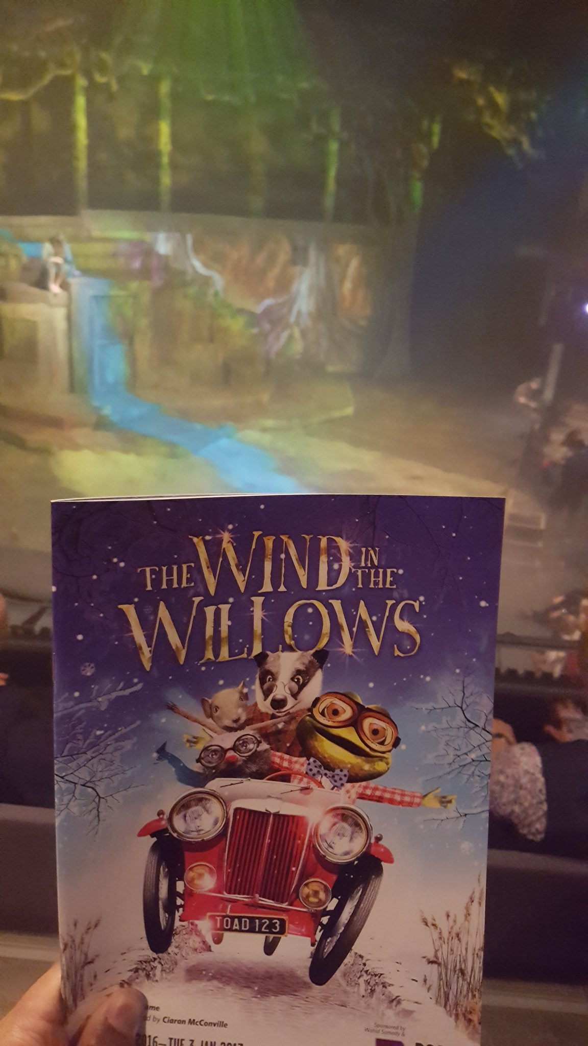 Press night of #windinthewillows @Rosetheatre with @angellicabell. #Christmasplay https://t.co/wpE8nGmcQJ