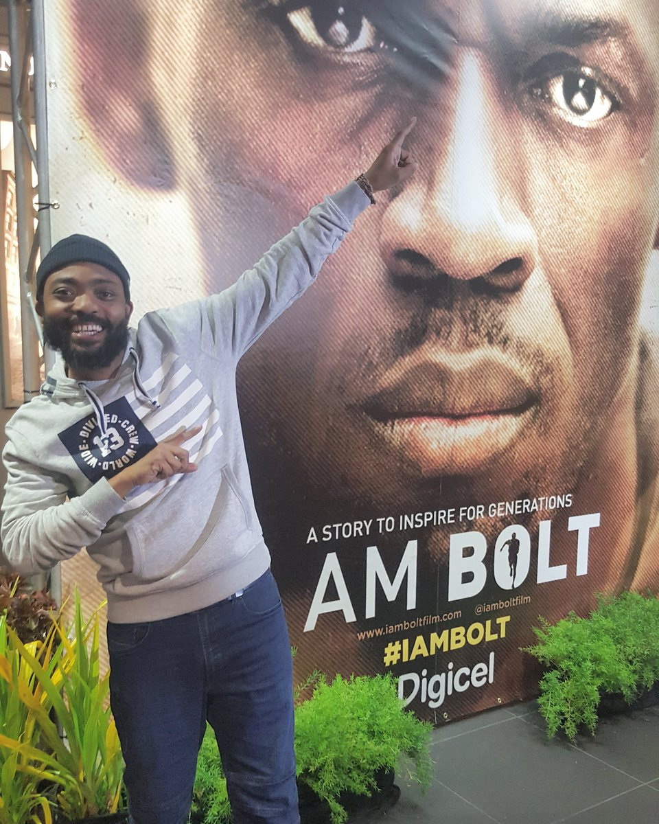 @machelmontano is here at the #IAmBolt premiere!!! https://t.co/JMQOk9mhqO