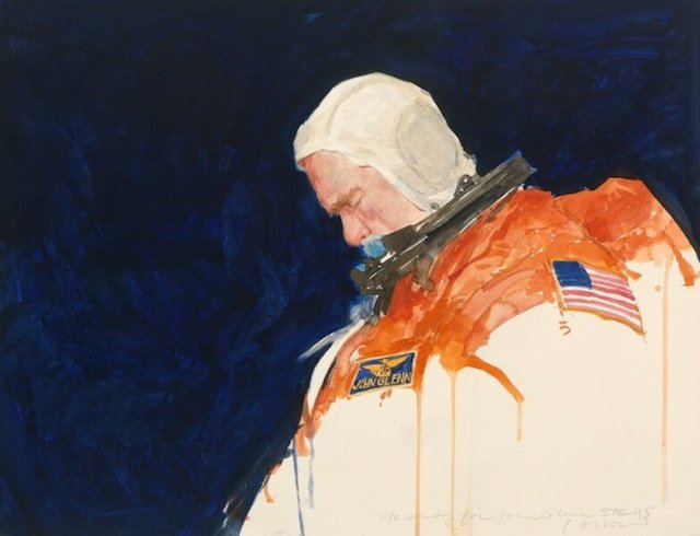You can see a portrait of John Glenn at the National Portrait Gallery.