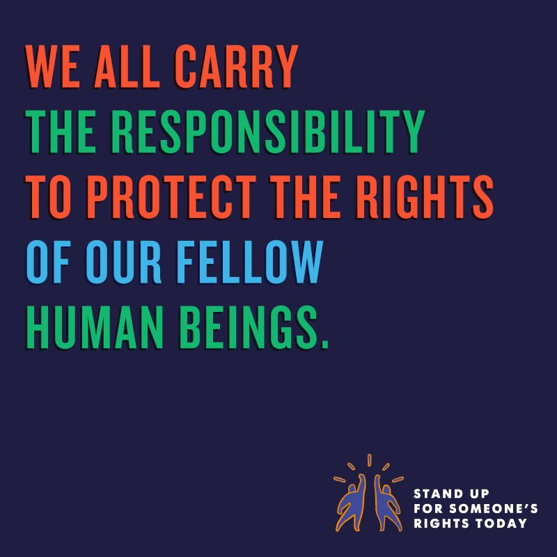 Dec 10 is #HumanRightsDay. Let's #StandUp4HumanRights - for greater freedoms, stronger respect & more compassion https://t.co/7zM5VgrUtk
