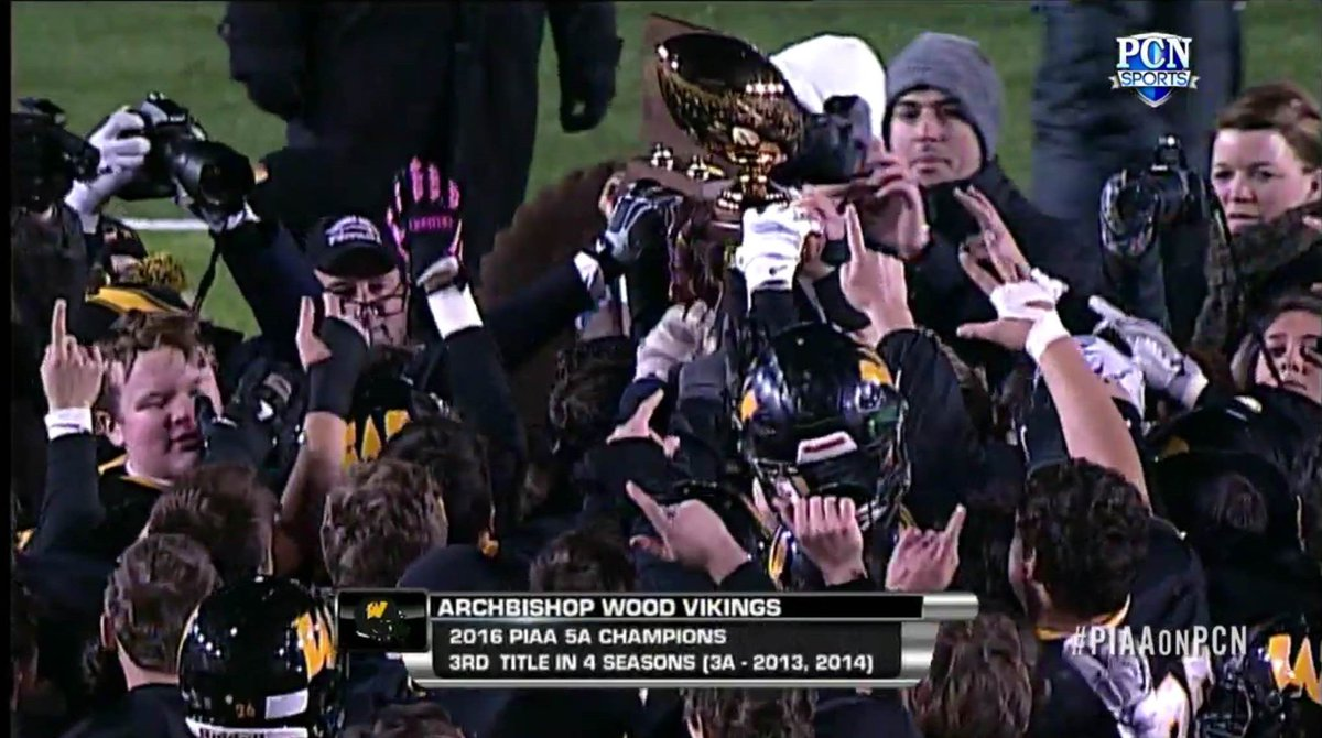 Great win @ArchbishopWood! They are your PIAA 5A Football Champions! #piaaonpcn https://t.co/HJwZaacwji