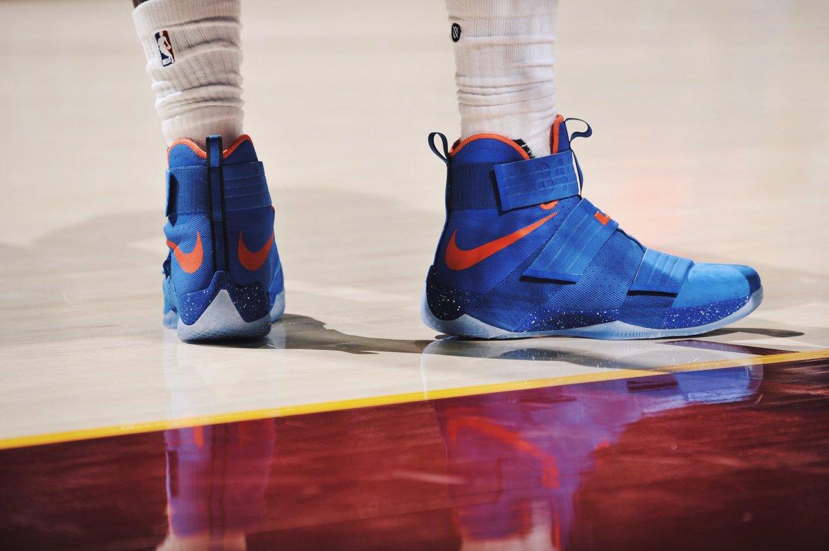 sports shoes 40fda f5a36 lebron james in the nike zoom lebron soldier 10 hardwood classics pe  tonight vs miami