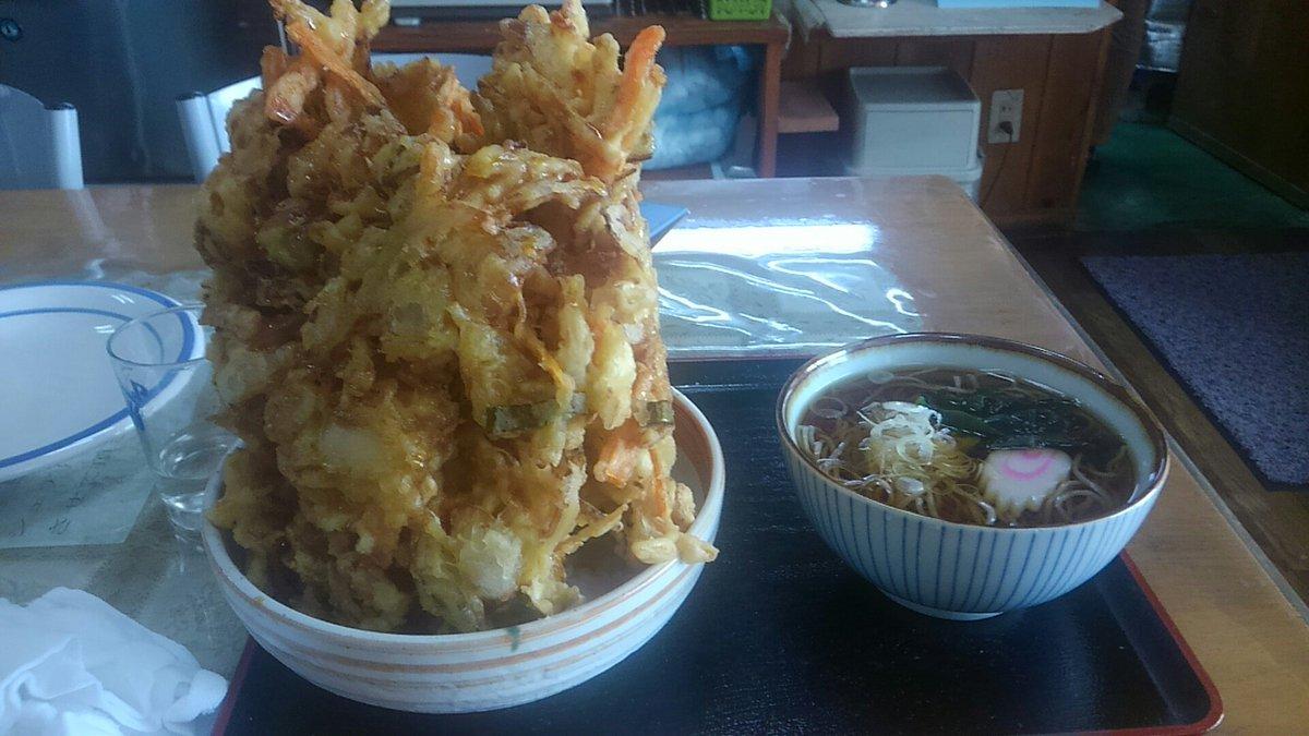 ふるさと紀行ってお店で普通のかき揚げ丼頼んだらこういうのがきた 天ぷらの暴力…! https://t.co/LVpbmevKbn