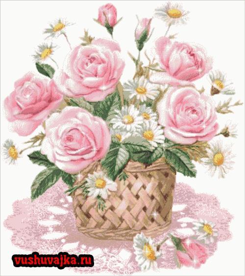 Схемы для вышивание крестом розу
