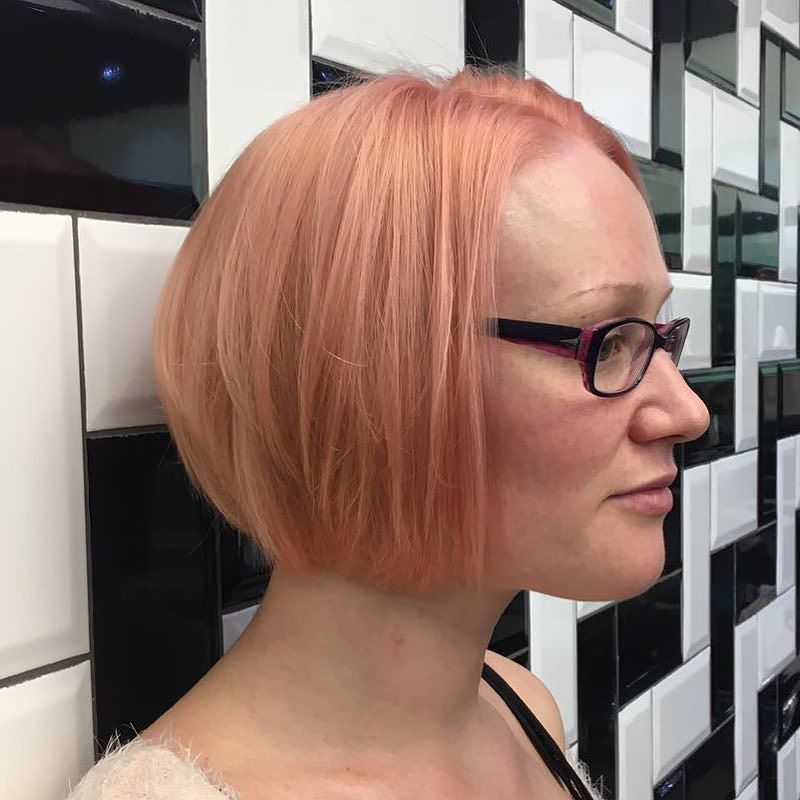 Bad Apple Hair On Twitter Pinky Peach Hair By George And Cut By