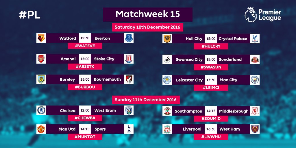 Ready for some #PL action?