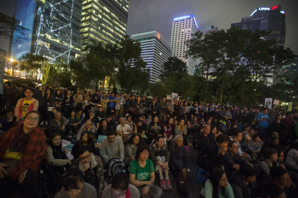 Anti-China protesters rally in Hong Kong as vote looms