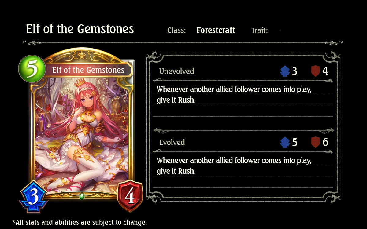 Elf of the Gemstones; Cygames, Shadowverse, Rise of Bahamut