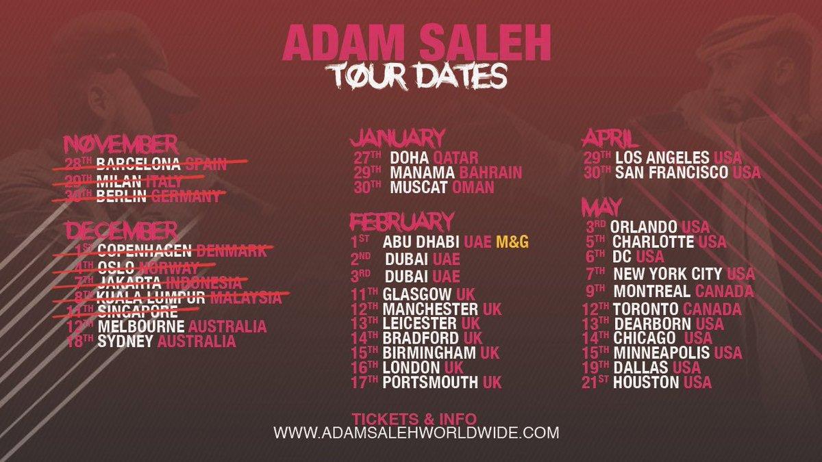 Adam Saleh Uk Tour