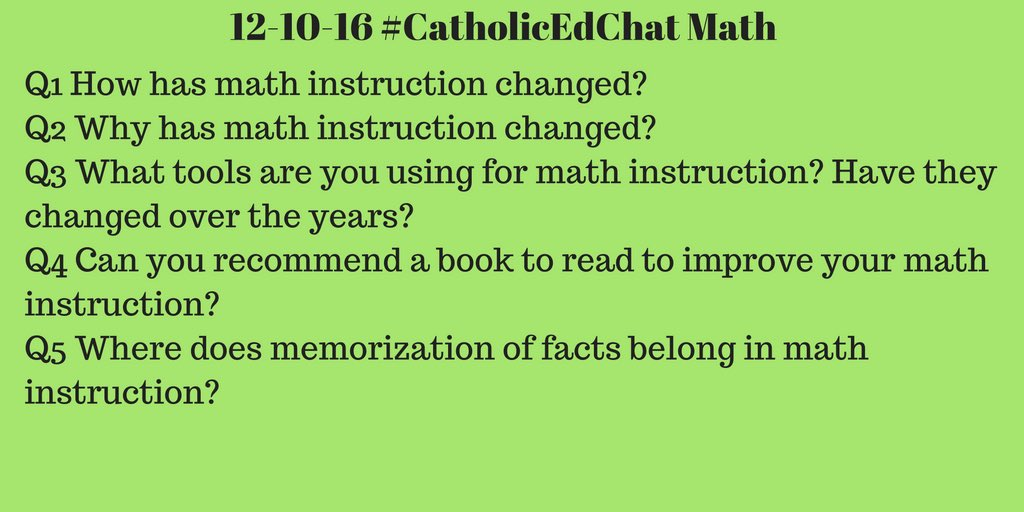 Today's #CatholicEdChat questions, all are welcome! 8am CST https://t.co/US8gMXHvHJ