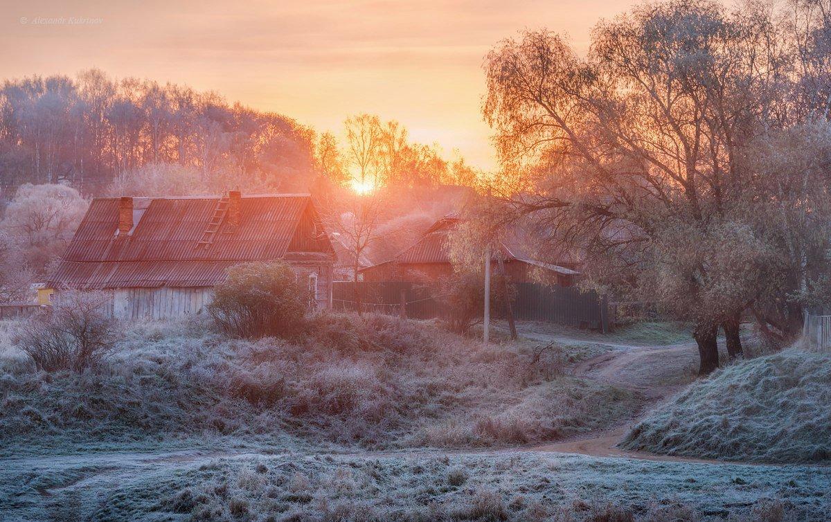 открытки осеннее утро в деревне бунгало