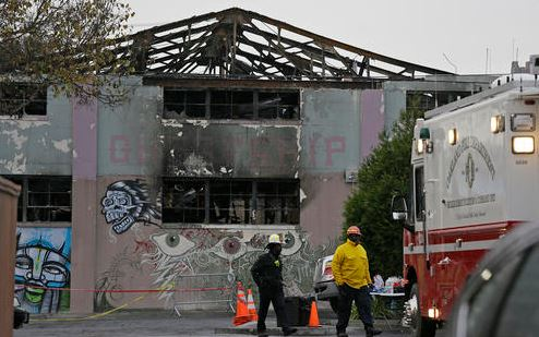 Warehouse fire survivor: People 'dying right in front of me'. >