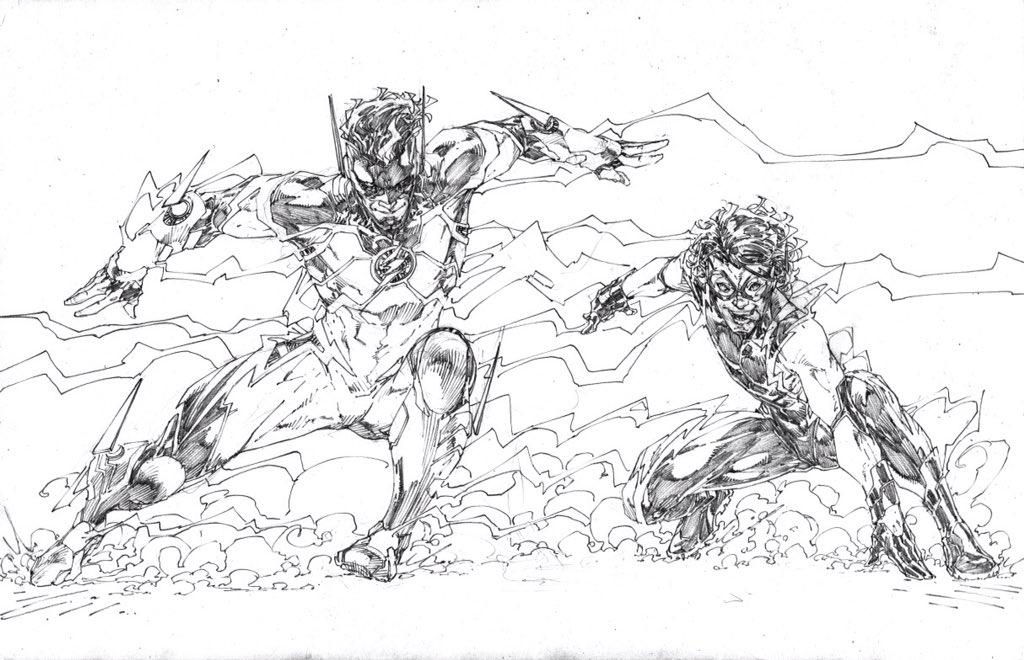 Updated Drawings By Brett Booth Flash John Fox Impulse Hunter