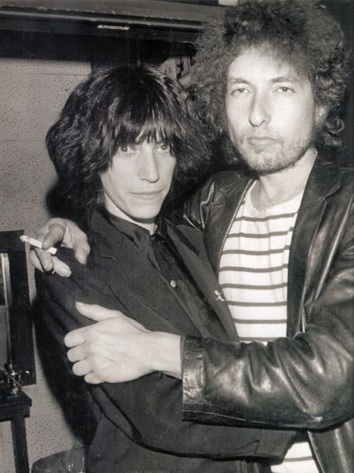 Patti Smith e Bob Dylan