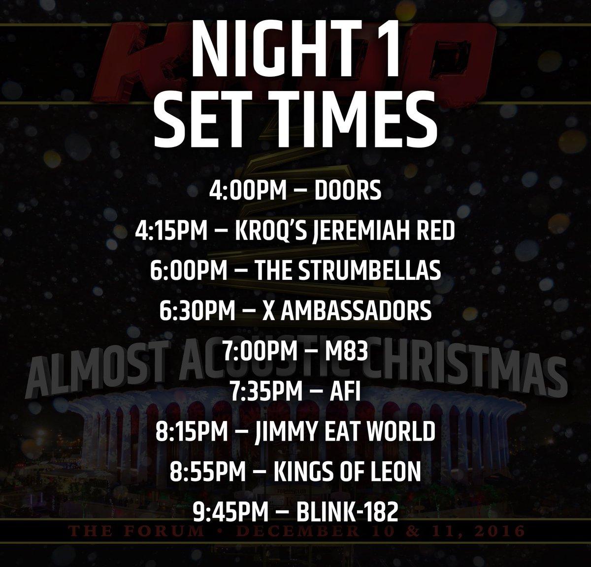 kroq on twitter kroq almost acoustic christmas set times venue info more httpstco5bwqc6rf3z kroqxmas - Kroq Christmas