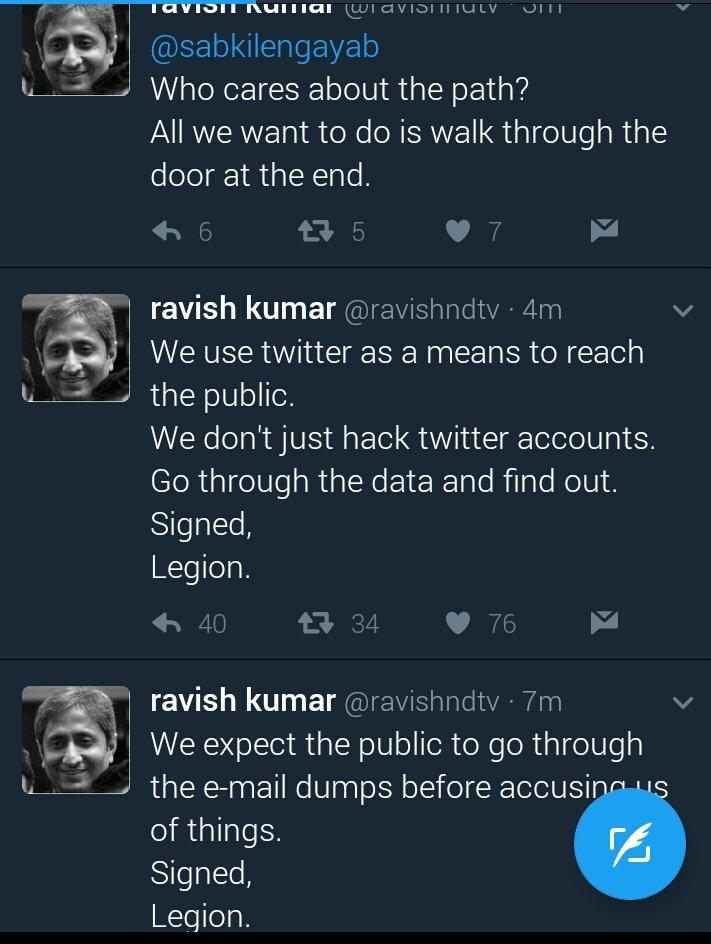 After Barkha Dutt, Ravish Kumar's Twitter account hacked by