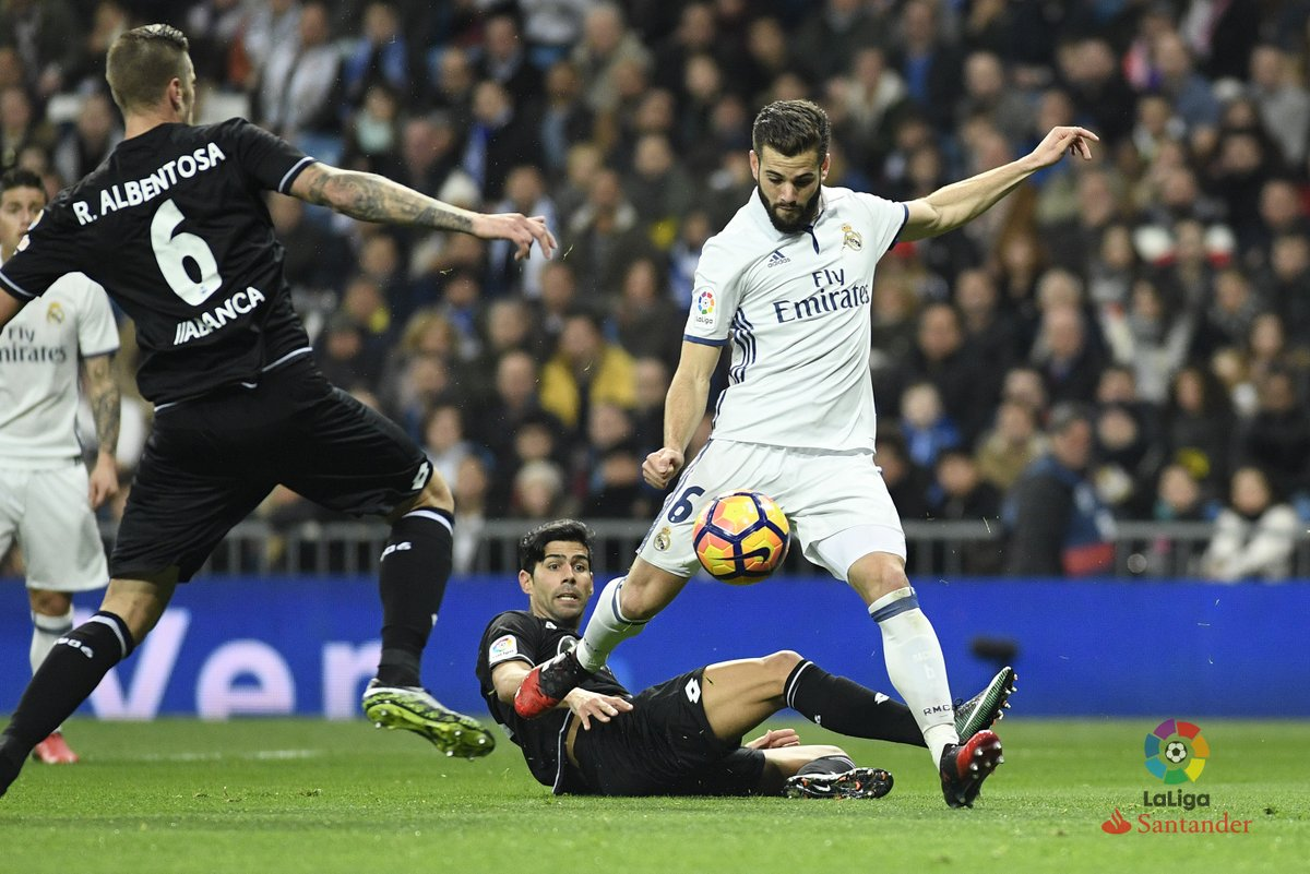 هدف ديبورتيفو الأول في مرمي ريال مدريد ورد فعل رونالدو