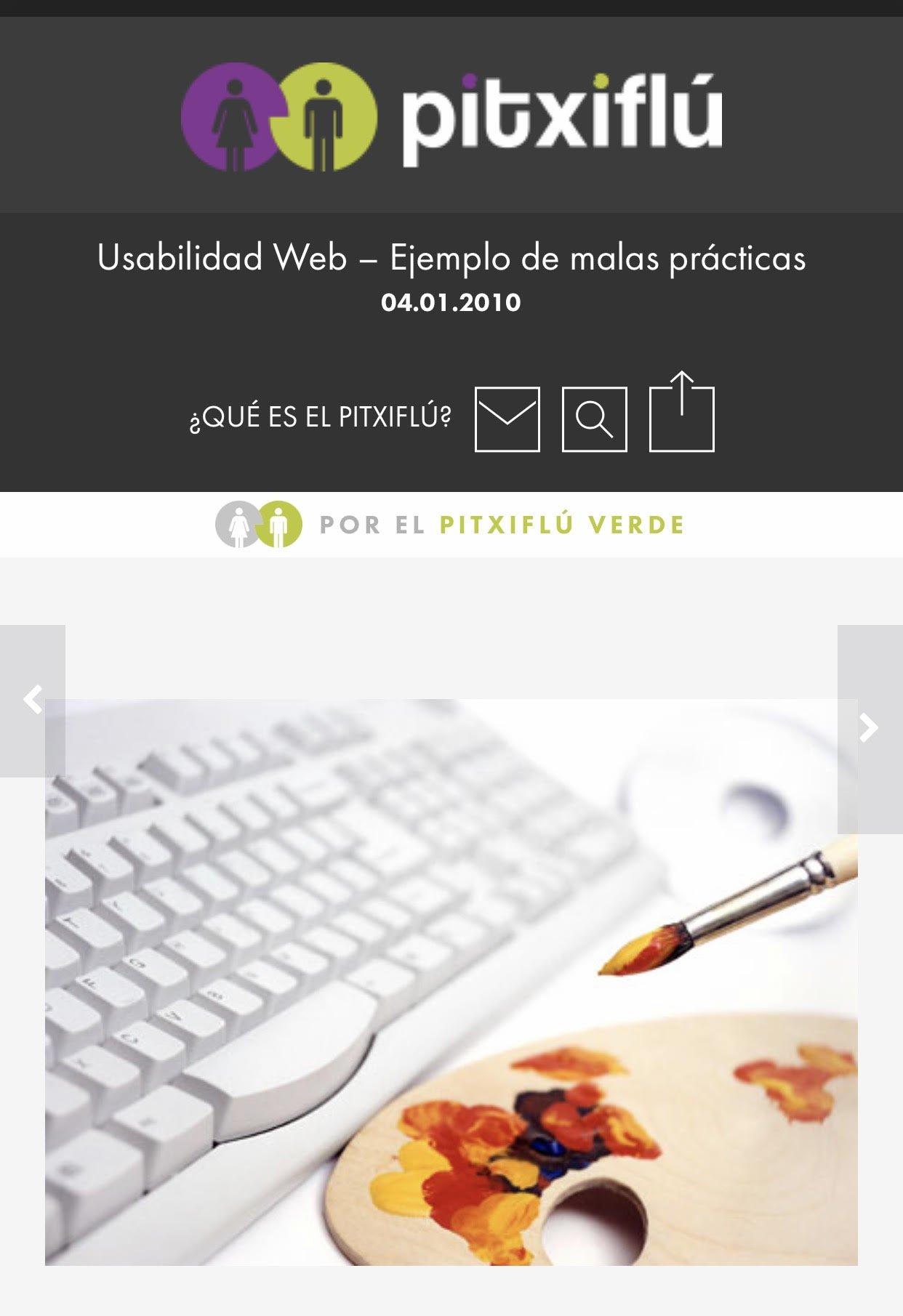 Ejemplo @dpico de buenas prácticas de usabilidad web en contraposición con  https://t.co/2SZR3es2yY y otras más #SocialBiblioChat #diseñoweb https://t.co/mdGdF656u3