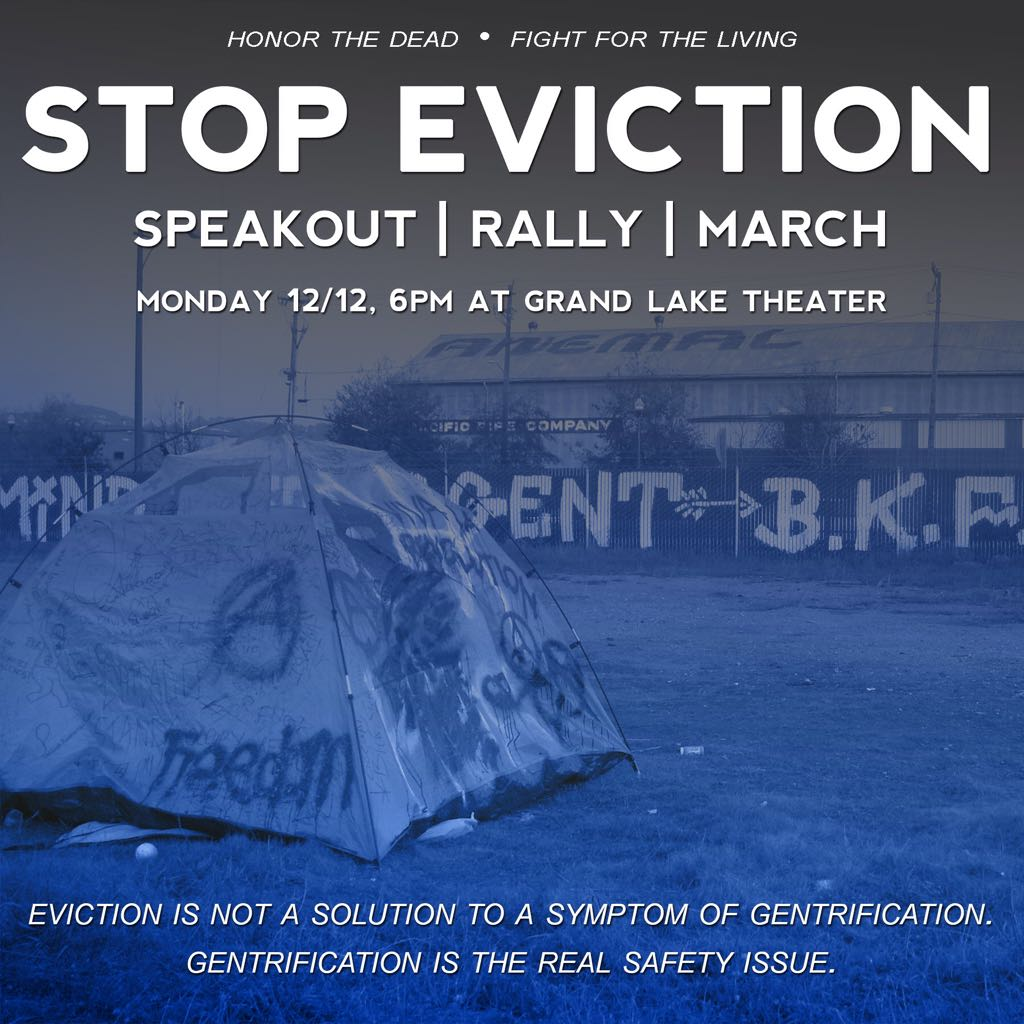 Stop Eviction: Honor the Dead, Fight for the Living @ Grand Lake Theater | Oakland | California | United States