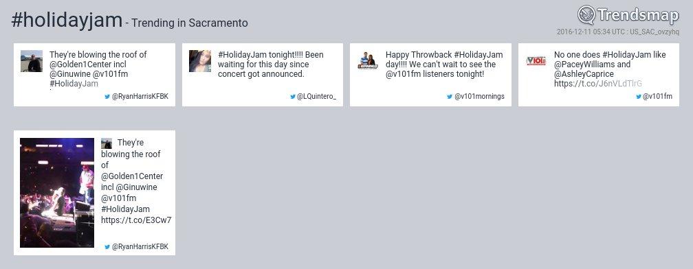 #holidayjam is now trending in #Sacramento  https://t.co/AlGkQaipyo https://t.co/jkrK9Khoar