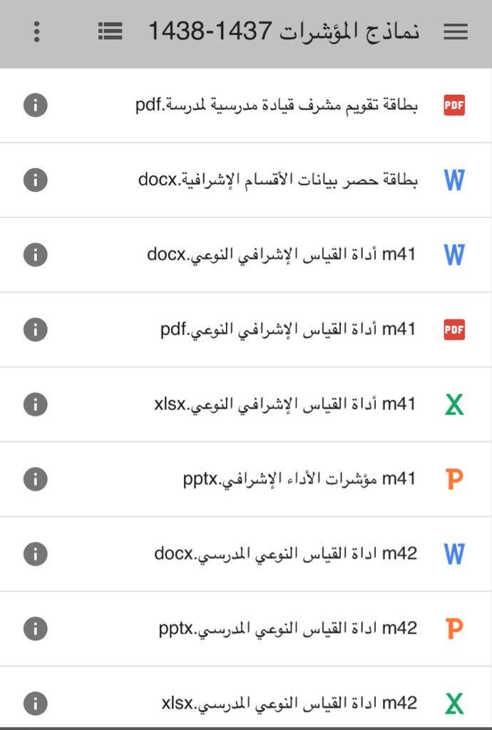 عبدالمحسن الزهراني Pa Twitter جميع ملفات المنظومة محدث مؤشرات الاداء القيادة المدرسية التعلم النشط Https T Co 5j2bxzzaxm