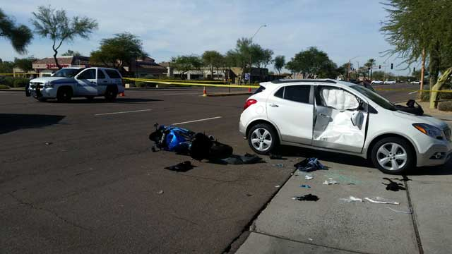 Police identify woman killed in motorcycle crash in Scottsdale on Friday