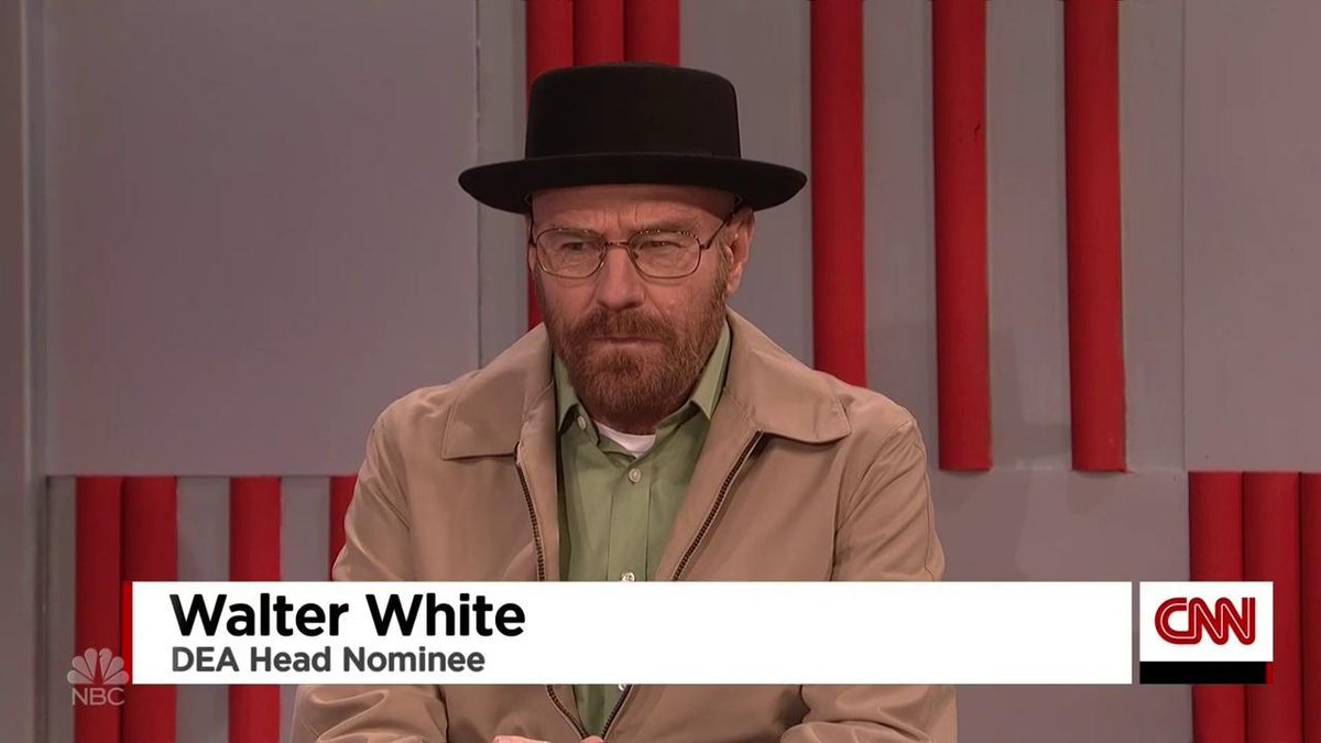 Walter White joins the Trump cabinet on 'SNL,' and he has the perfect role