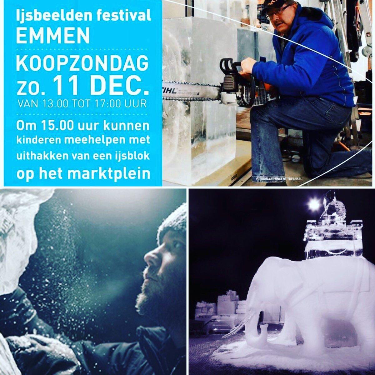 Vandaag koopzondag en ijsbeeldenfestival Emmen Centrum @MediaMarktEmmen Wij zijn geopend van 12:00-17:00. https://t.co/JgriouUudd