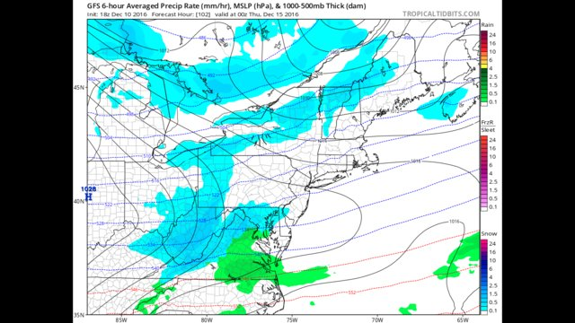 Light snow possible Wednesday afternoon into Wednesday evening