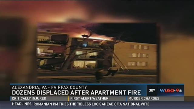 Dozens displaced after apartment fire