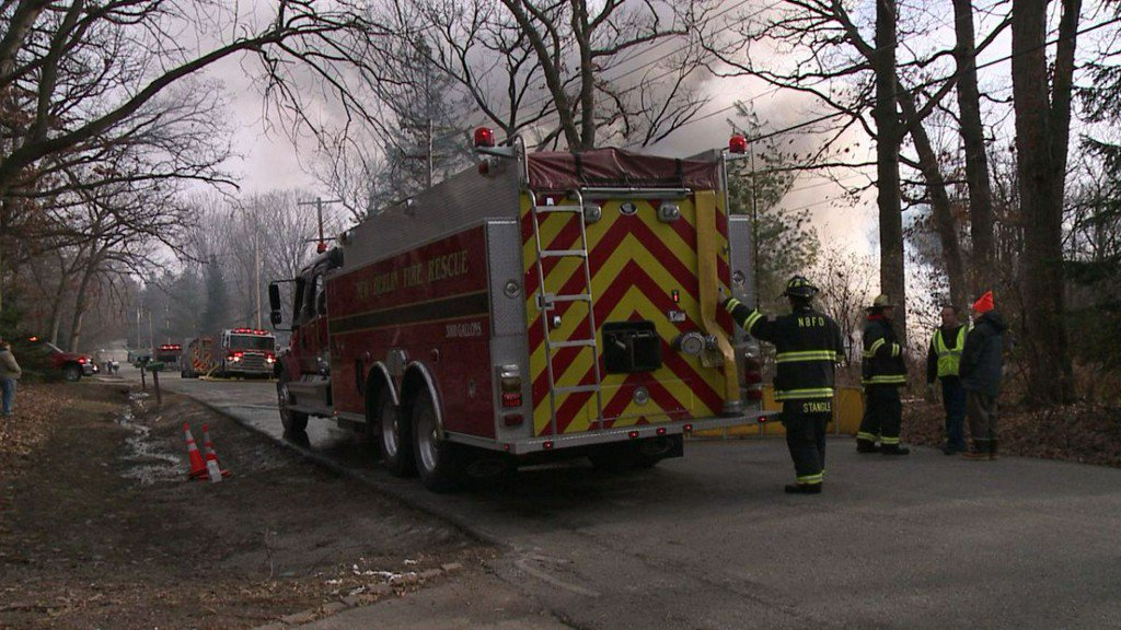 New Berlin officials respond to house fire on Forest Drive